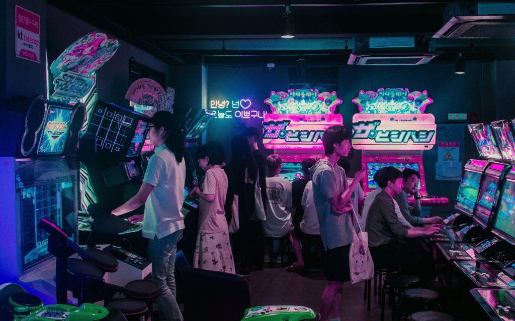 arcade games machine in Japan