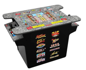 Arcade 1Up - New! Deluxe 12-in-1 Head to Head Cocktail Table with Split Screen Street Fighter