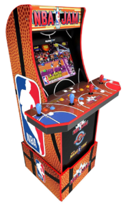 Arcade1Up Arcade1Up NBA JAM Home Arcade Machine, 3 Games in 1, 4 Foot Cabinet with 1 Foot Riser